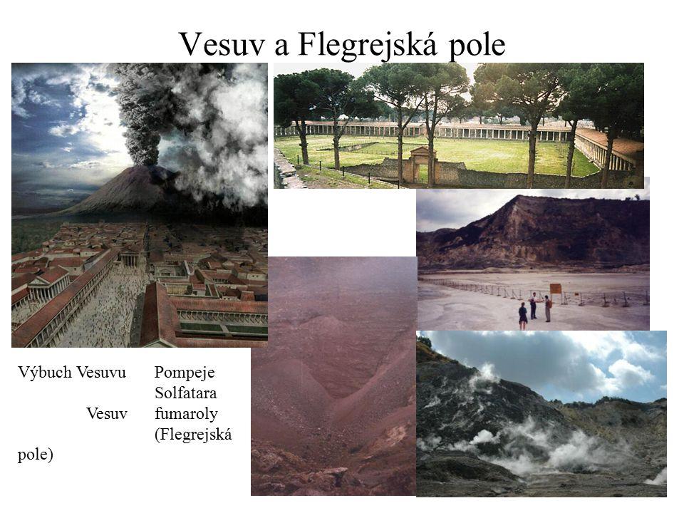 Vesuv a Flegrejská pole Výbuch VesuvuPompeje Solfatara Vesuvfumaroly (Flegrejská pole)