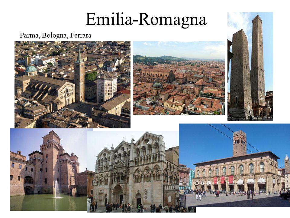 Emilia-Romagna Parma, Bologna, Ferrara
