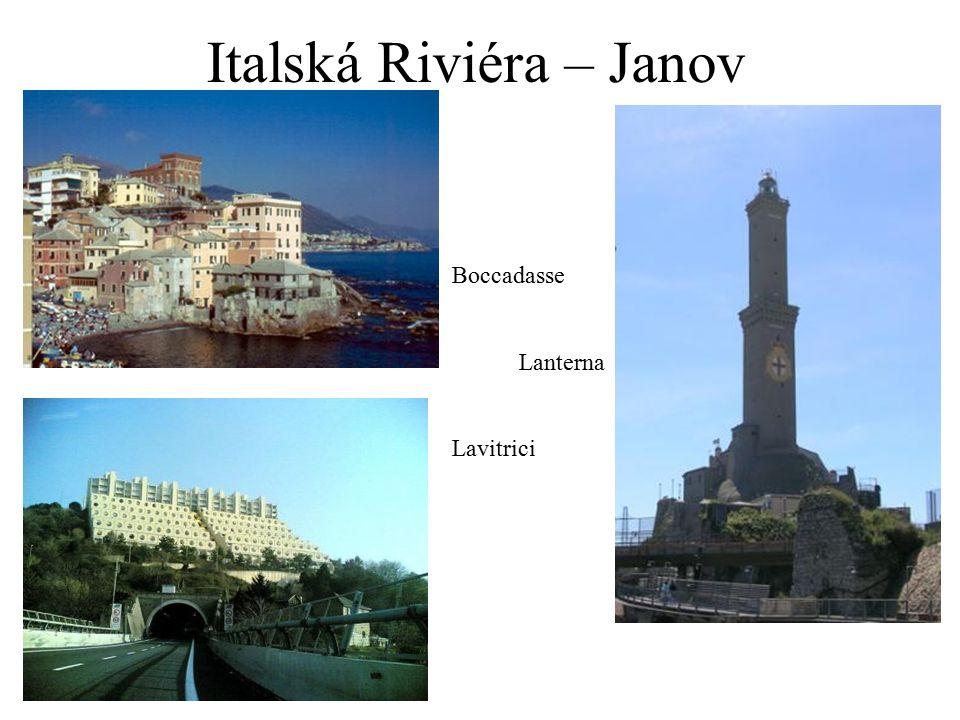 Italská Riviéra – Janov Boccadasse Lanterna Lavitrici