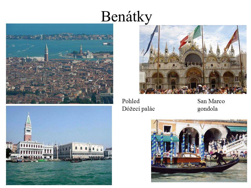 Benátky PohledSan Marco Dóžecí palácgondola