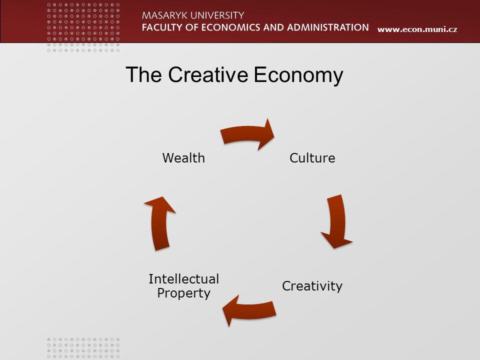 www.econ.muni.cz Culture Creativity Intellectual Property Wealth The Creative Economy