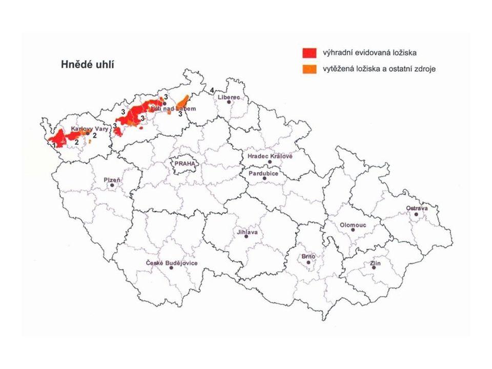 Hnědé uhlí plně pokrývá domácí spotřebu, černé uhlí je předmětem zahraničního obchodu v oblasti dovozu i vývozu 2/3 energetického černého uhlí je určeno na výrobu el.energie a tepla, zbytek pro průmyslové podniky Hnědé uhlí a lignit slouží výhradně k výrobě tepla a elektřiny, ČR je na něm závislá (Kde a přibližně kdy se u nás začalo těžit uhlí?)