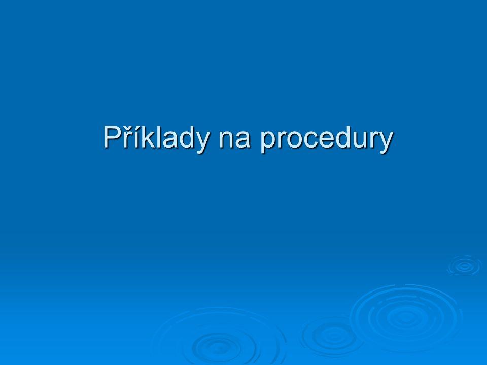 Sestavte proceduru pro seřazení posloupnosti reálných čísel do nerostoucí poslopnosti.