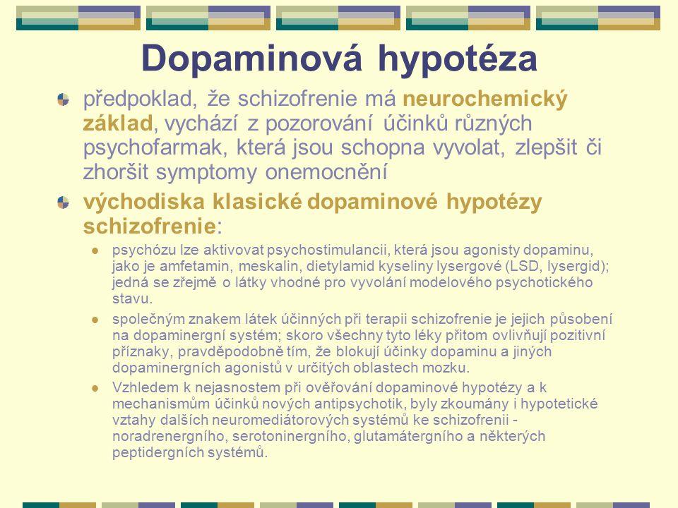Dopaminová hypotéza předpoklad, že schizofrenie má neurochemický základ, vychází z pozorování účinků různých psychofarmak, která jsou schopna vyvolat,