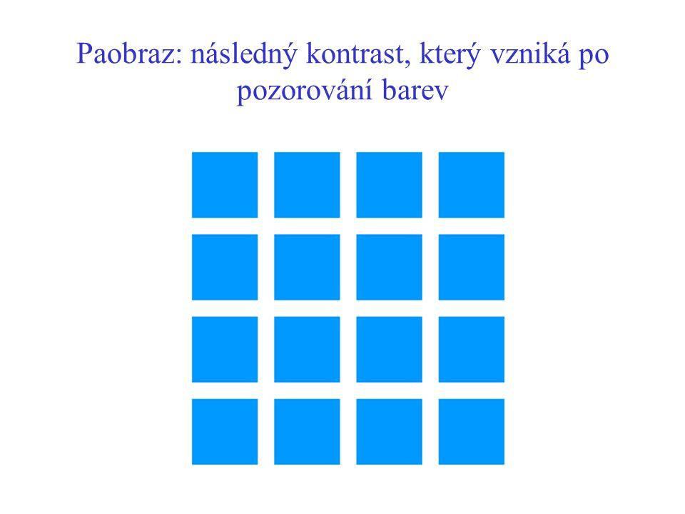 Paobraz: následný kontrast, který vzniká po pozorování barev