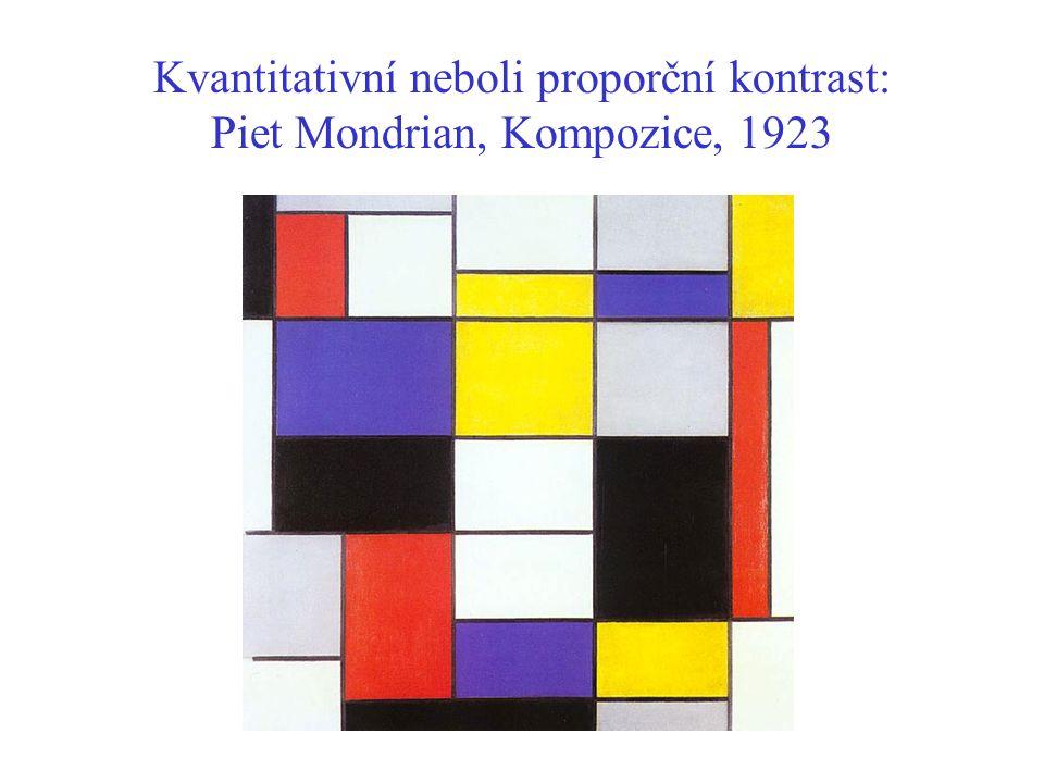 Kvantitativní neboli proporční kontrast: Piet Mondrian, Kompozice, 1923