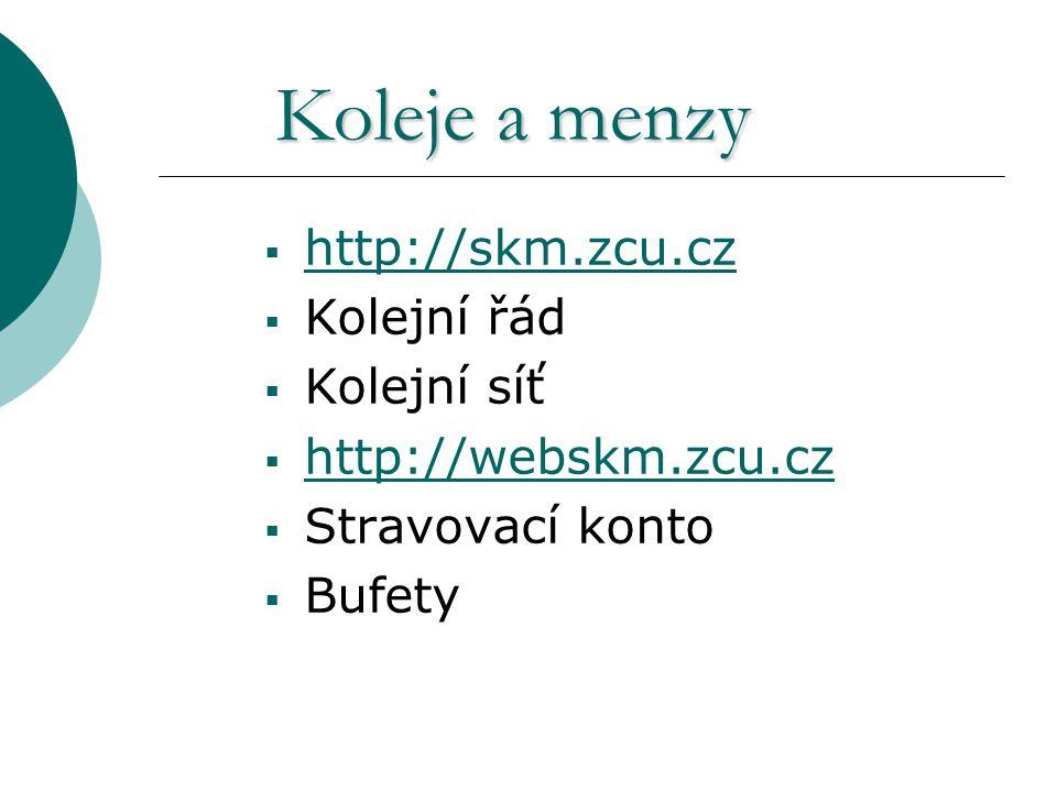 Nutno podat elektronicky žádost http://ubytstip.zcu.cz http://socstip.zcu.cz Výplata ubyt.
