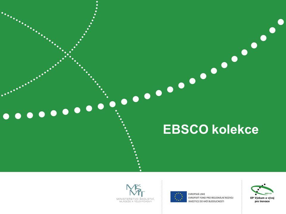 EBSCO kolekce