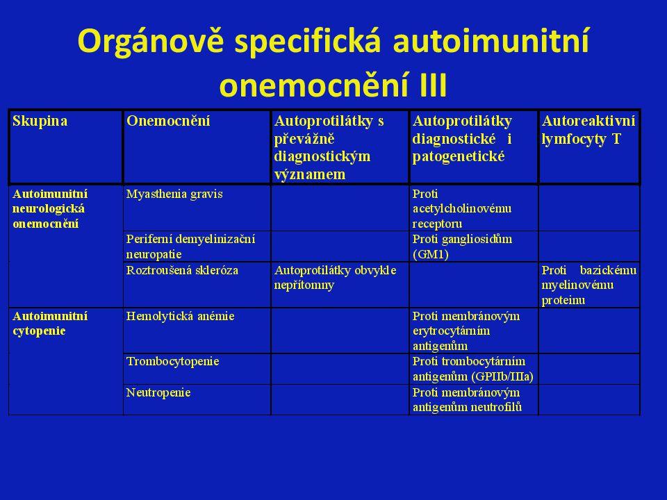 Orgánově specifická autoimunitní onemocnění III