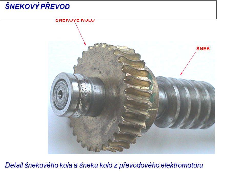 ŠNEK ŠNEKOVÉ KOLO Detail šnekového kola a šneku kolo z převodového elektromotoru ŠNEKOVÝ PŘEVOD