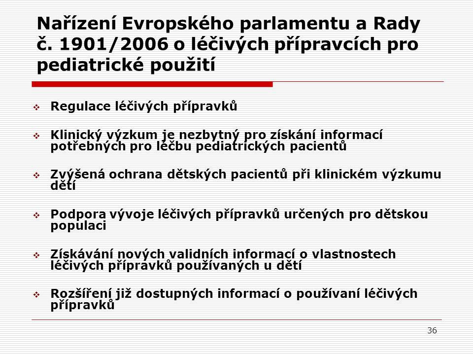 36 Nařízení Evropského parlamentu a Rady č.