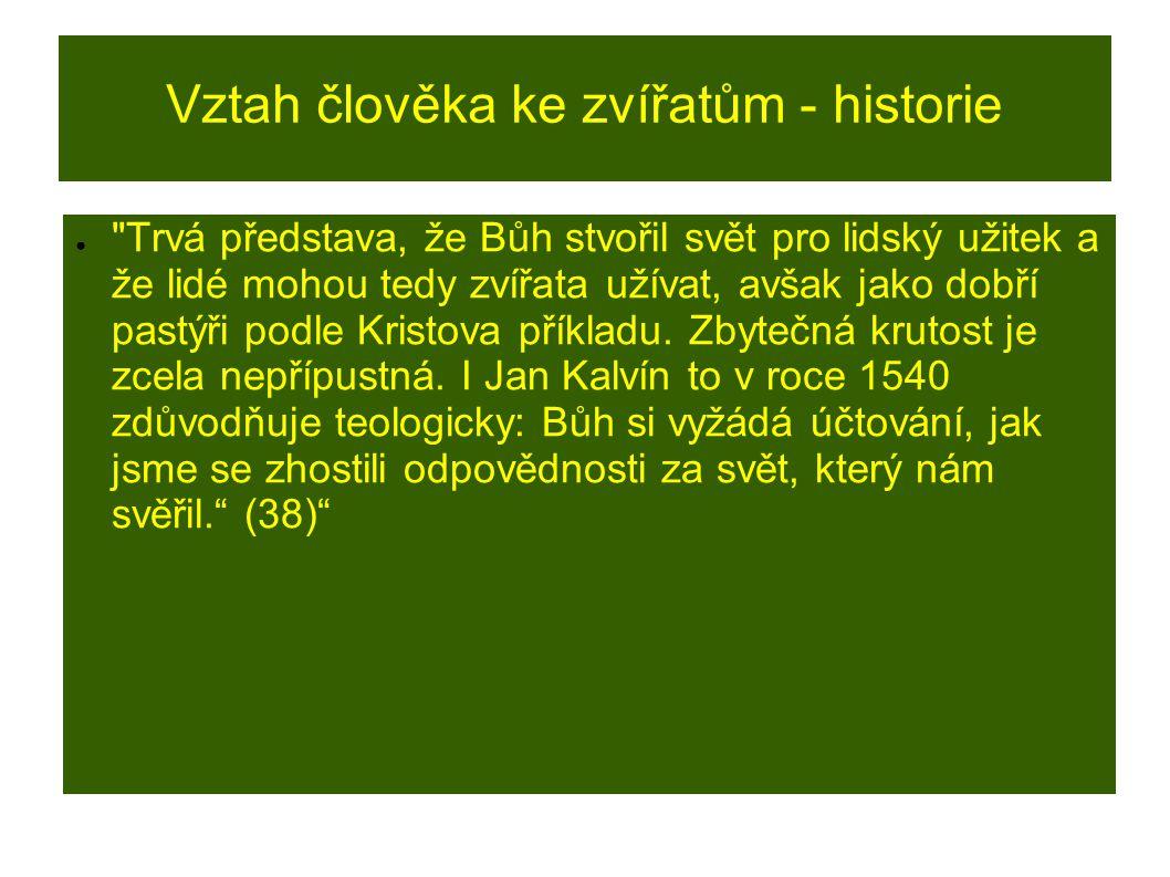 Vztah člověka ke zvířatům - historie ●