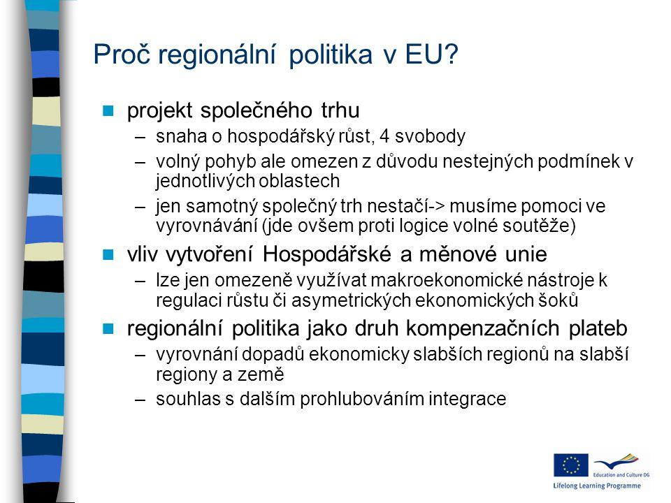 Proč regionální politika v EU.
