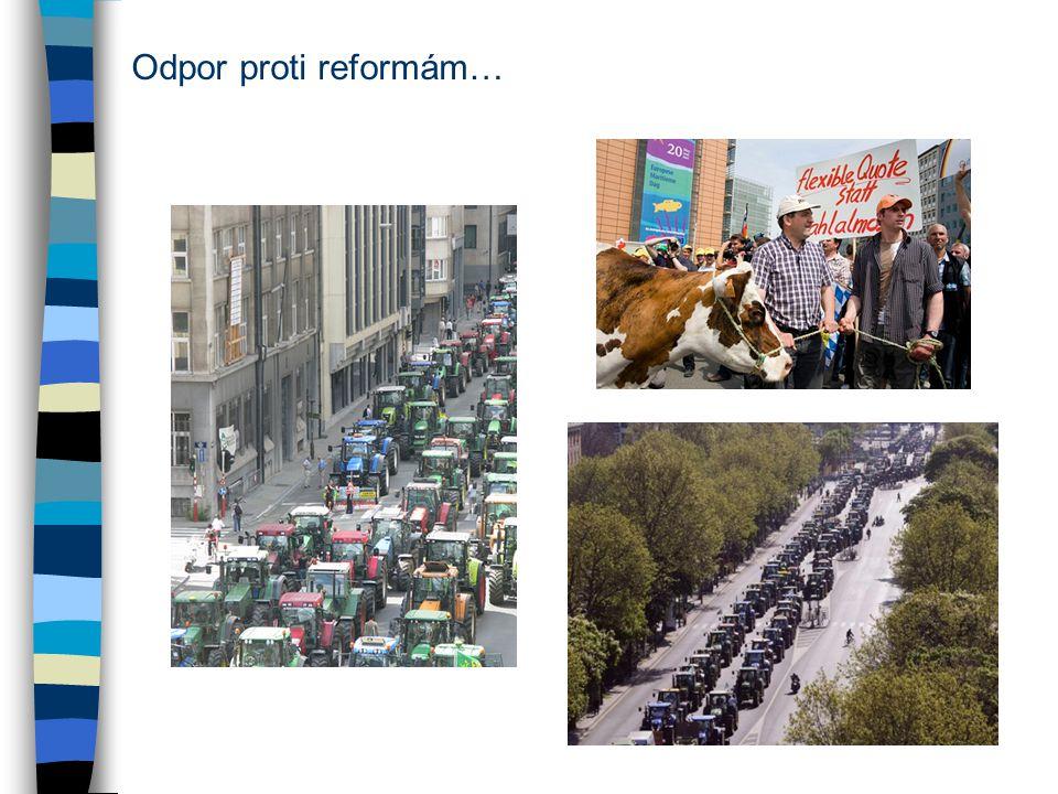 Odpor proti reformám…