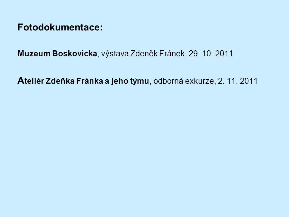 Fotodokumentace: Muzeum Boskovicka, výstava Zdeněk Fránek, 29.