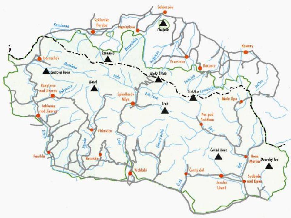 Vývoj krajiny: - prvohorní stáří, hercynské vrásnění (400 mil.), koncem třetihor a ve čtvrtohorách přetvořeny – výzdvih horstva,střídání glaciáů a interglaciálů - karové a údolní ledovce,(Obří důl, Labský důl, Velká sněžná jáma) - ledovcová jezera (Wielky Stav) - mrazové zvětrávání: permafrost, kamenná moře, kryoplanační terasy, polygonální půdy (Luční hora) Velká sněžná jáma