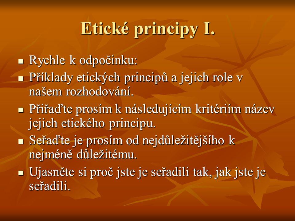 Etické principy I.