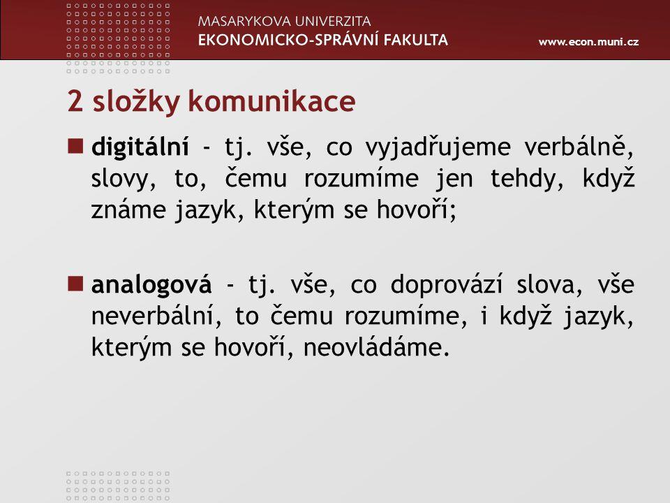 www.econ.muni.cz 2 složky komunikace digitální - tj.