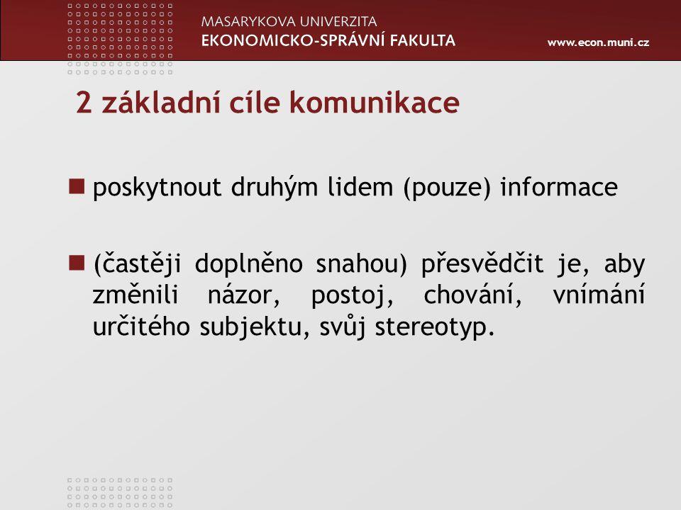 www.econ.muni.cz P ř ínos analýzy Co je zdrojem obtí ž í.