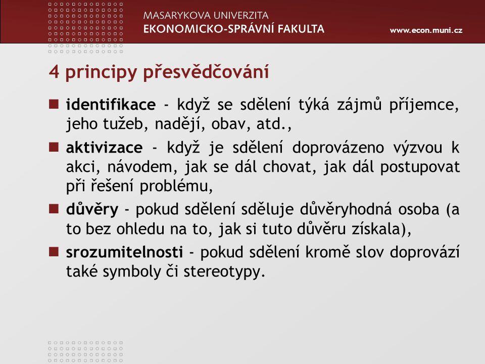 www.econ.muni.cz V komunikaci ve VS se projevuje tzv.