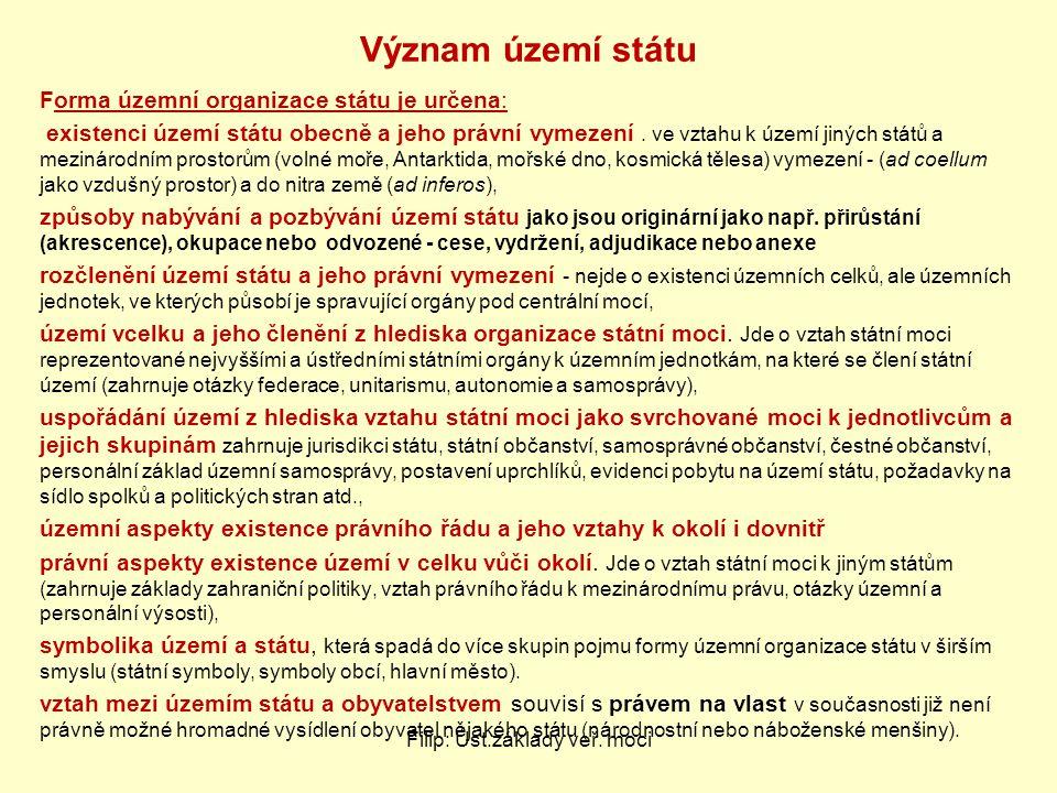 Filip: Úst.základy veř.moci Státní mechanismus v ČR – jak vypadá náš stát.