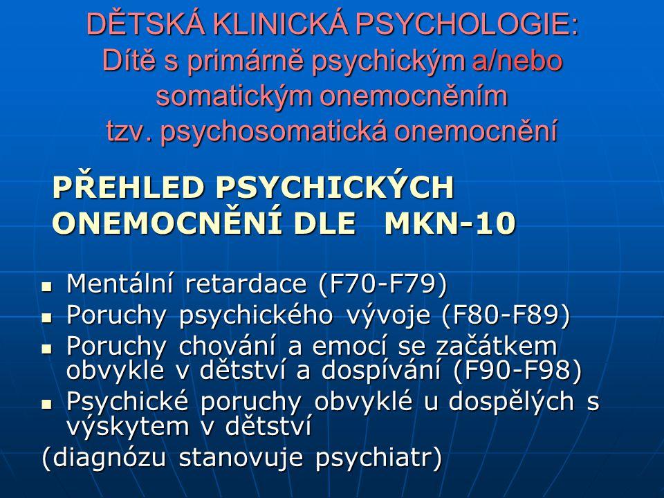 Diagnostická kritéria pro ADHD v dospělosti podle DSM−IV (převzato z Drtílková, 2007i; Paclt a kol., 2007) Pocit, že výkon neodpovídá schopnostem Pocit, že výkon neodpovídá schopnostem Neschopnost organizovat každodenní drobnosti (zapomínají schůzky, termíny, ztrácejí stvrzenky, lístky, šeky) Neschopnost organizovat každodenní drobnosti (zapomínají schůzky, termíny, ztrácejí stvrzenky, lístky, šeky) Odkládají řešení, mají obavy něco začít Odkládají řešení, mají obavy něco začít Mnoho věcí dělají současně Mnoho věcí dělají současně Nevhodné poznámky, sklon říci, co je právě napadne Nevhodné poznámky, sklon říci, co je právě napadne Hledání stále nových podnětů Hledání stále nových podnětů Často se nudí, mají stále nové zájmy, ale netrvají dlouho Často se nudí, mají stále nové zájmy, ale netrvají dlouho Snadno zneklidní, ztratí pozornost, jsou nedůslední Snadno zneklidní, ztratí pozornost, jsou nedůslední Kreativní, intuitivní, vyšší IQ Kreativní, intuitivní, vyšší IQ Problémy s vžitými postupy, prosazování vlastních postupů Problémy s vžitými postupy, prosazování vlastních postupů Netrpělivost Netrpělivost Impulzivita slovní, akční (utrácí bez rozmyslu, mění plány) Impulzivita slovní, akční (utrácí bez rozmyslu, mění plány) Sklon trápit se nepotřebností, budoucností, kontrast s nevšímavostí k reálnému nebezpečí Sklon trápit se nepotřebností, budoucností, kontrast s nevšímavostí k reálnému nebezpečí Pocity hrozící záhuby a nebezpečí se střídají se vzrušením z rizika Pocity hrozící záhuby a nebezpečí se střídají se vzrušením z rizika Poruchy nálady, deprese Poruchy nálady, deprese Neklid (bubnování prsty, změny pozice na židli, přecházení) Neklid (bubnování prsty, změny pozice na židli, přecházení) Sklon k závislosti (drogy, alkohol, hry, nákupy, jídlo, práce) Sklon k závislosti (drogy, alkohol, hry, nákupy, jídlo, práce) Problémy se sebeúctou Problémy se sebeúctou Problémy se sebehodnocením Problémy se sebehodnocením V rodinné anamnéze poruchy nálady, poruchy ovládání