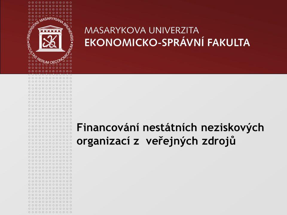 Financování nestátních neziskových organizací z veřejných zdrojů