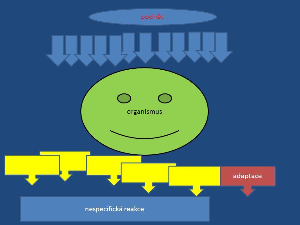 podnět organismus adaptace nespecifická reakce