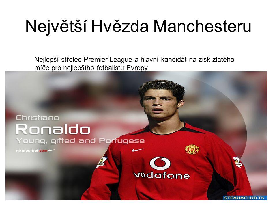 Největší Hvězda Manchesteru Nejlepší střelec Premier League a hlavní kandidát na zisk zlatého míče pro nejlepšího fotbalistu Evropy