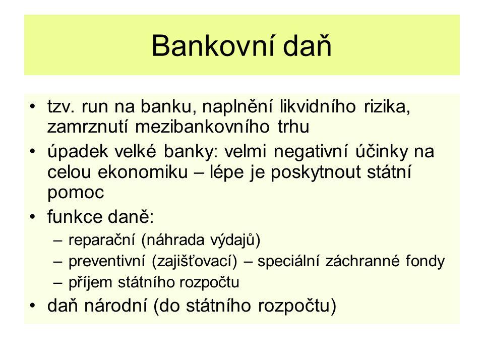 Bankovní daň tzv.