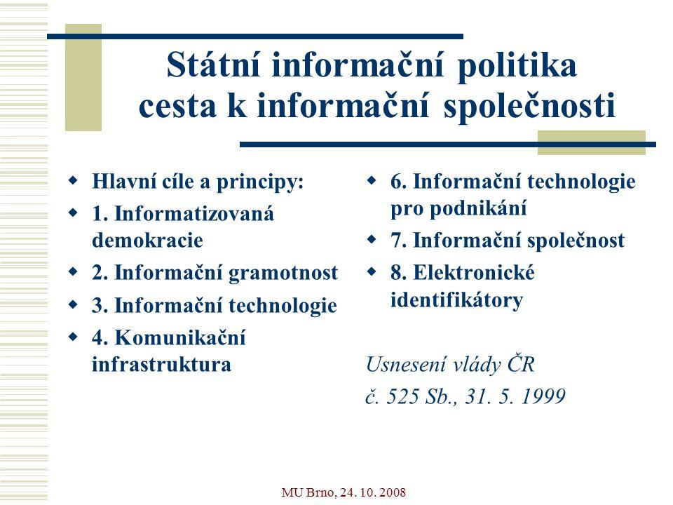 MU Brno, 24.10. 2008 SIPVZ  Vybavenost škol ICT 1.