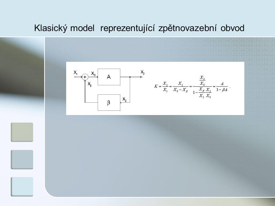 Klasický model reprezentující zpětnovazební obvod