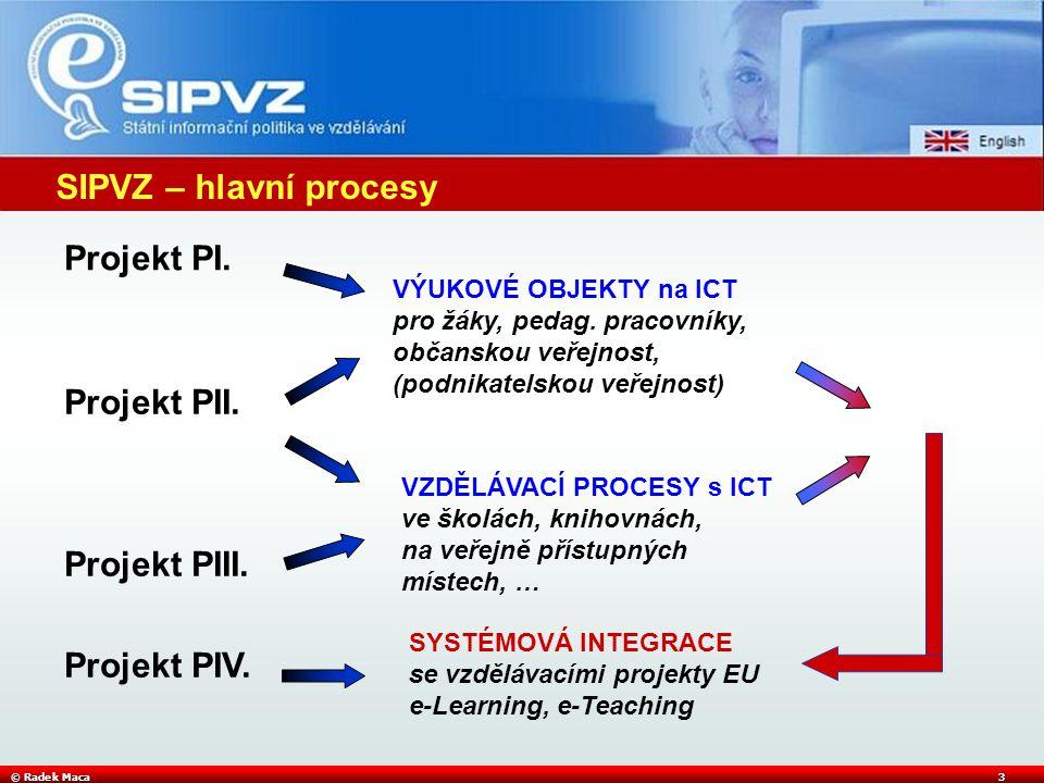 © Radek Maca3 SIPVZ – hlavní procesy Projekt PI. Projekt PII.