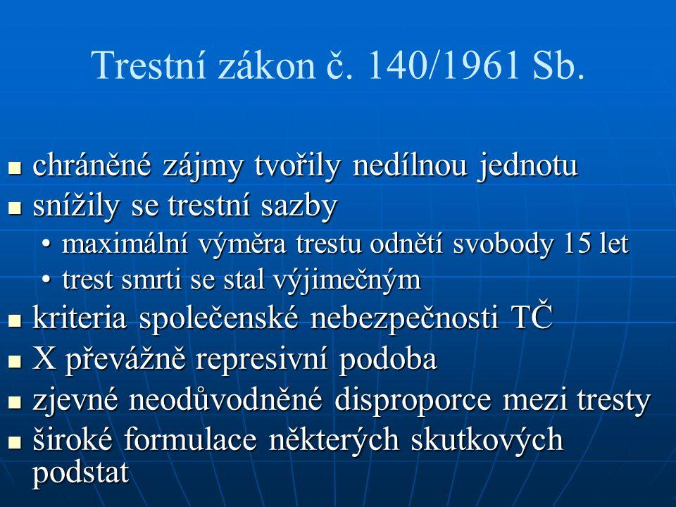 Trestní zákon č. 140/1961 Sb.