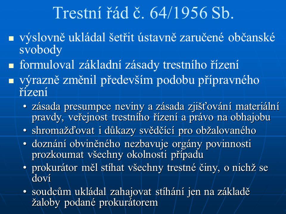 Trestní řád č. 64/1956 Sb.