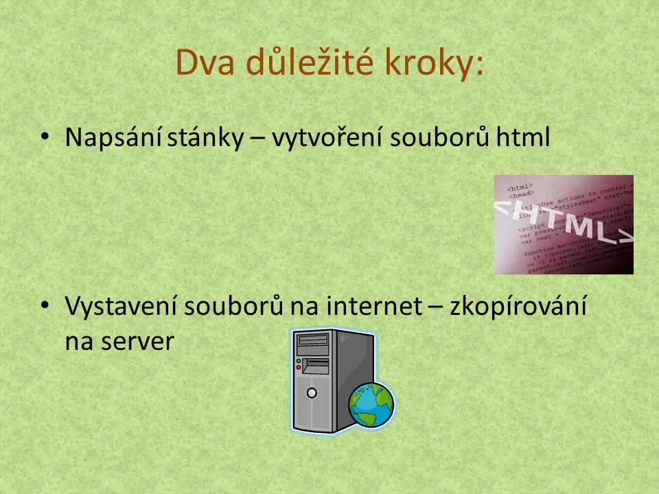 Soubory html – co to je.Internetová stránka je soubor s příponou htm nebo html.