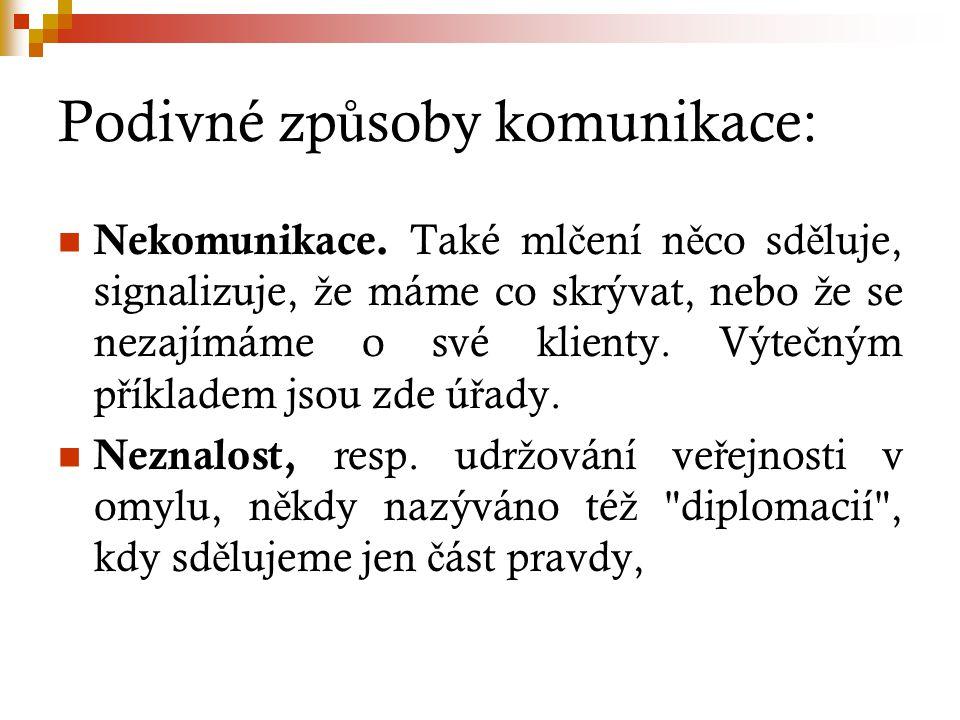 Podivné zp ů soby komunikace: Nekomunikace.