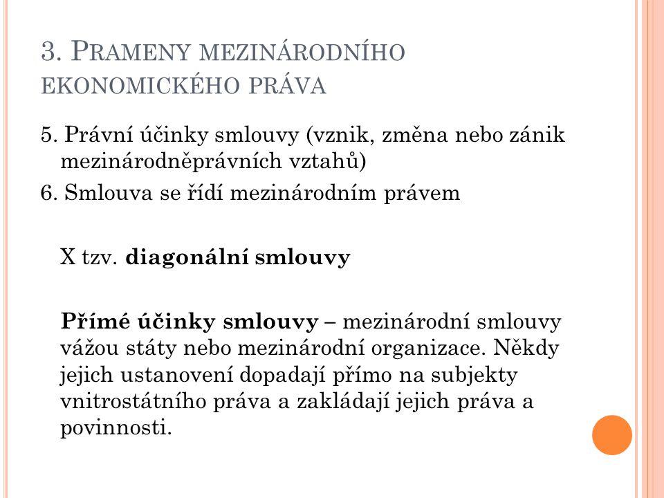 3. P RAMENY MEZINÁRODNÍHO EKONOMICKÉHO PRÁVA 5.