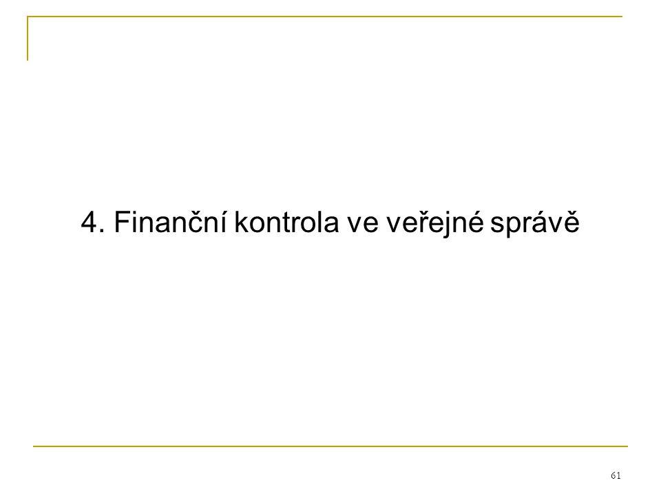 61 4. Finanční kontrola ve veřejné správě