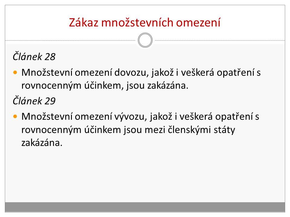 výjimky dle čl.