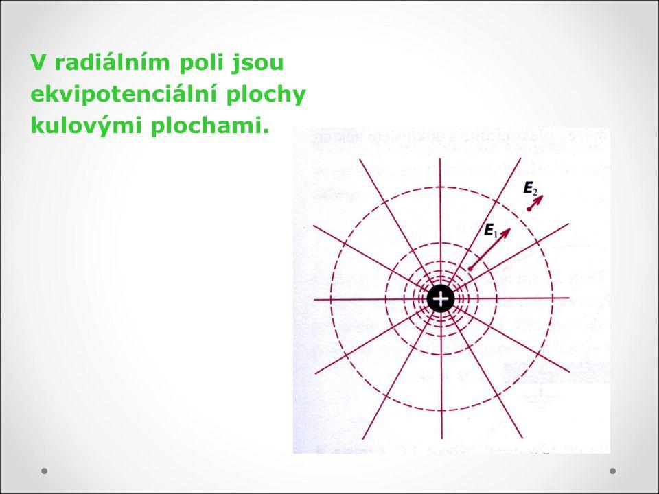 V radiálním poli jsou ekvipotenciální plochy kulovými plochami.