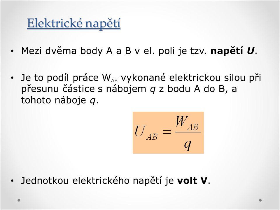 Elektrické napětí mezi dvěma body