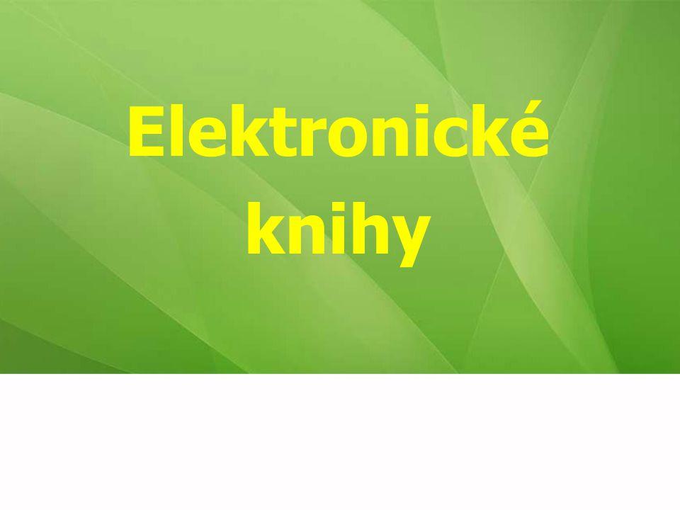 Elektronické knihy