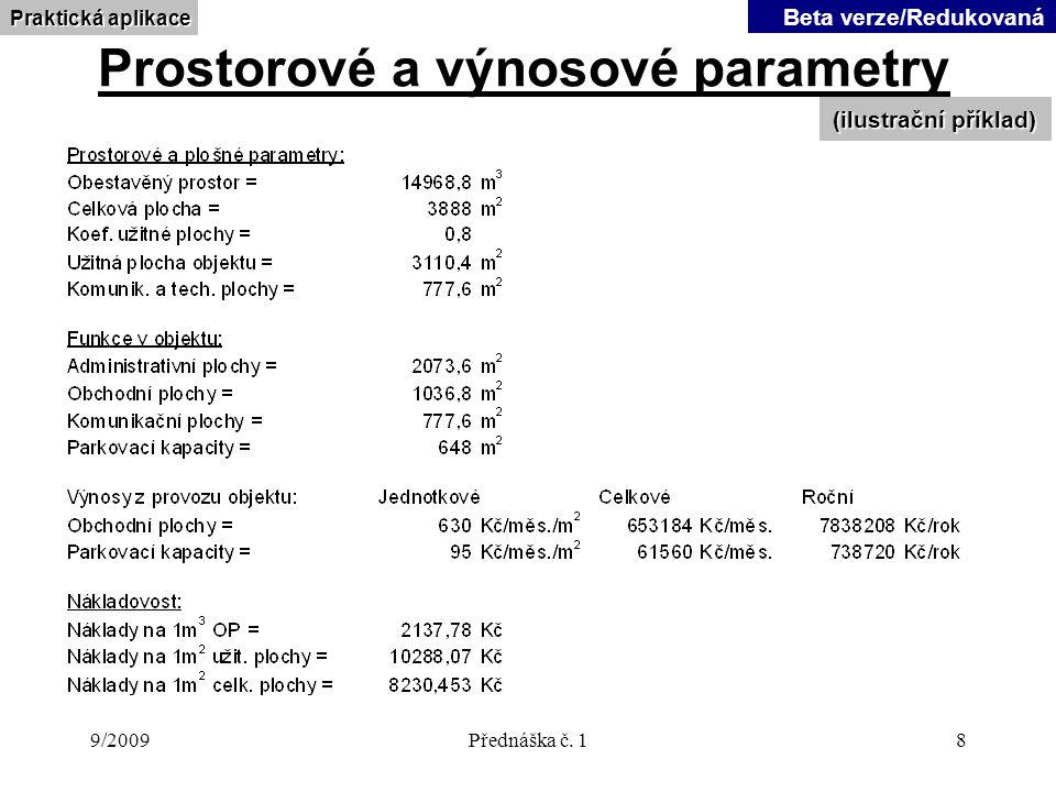 9/2009Přednáška č.