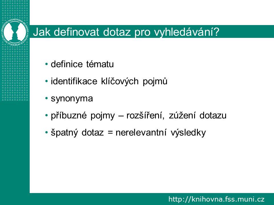 http://knihovna.fss.muni.cz Co může pomoc? Mentální mapy. Zdroj: http://www.inflow.cz/abc