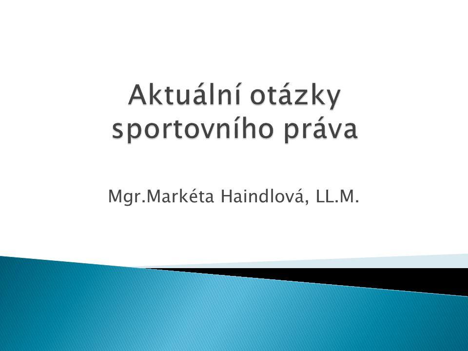 Mgr.Markéta Haindlová, LL.M.