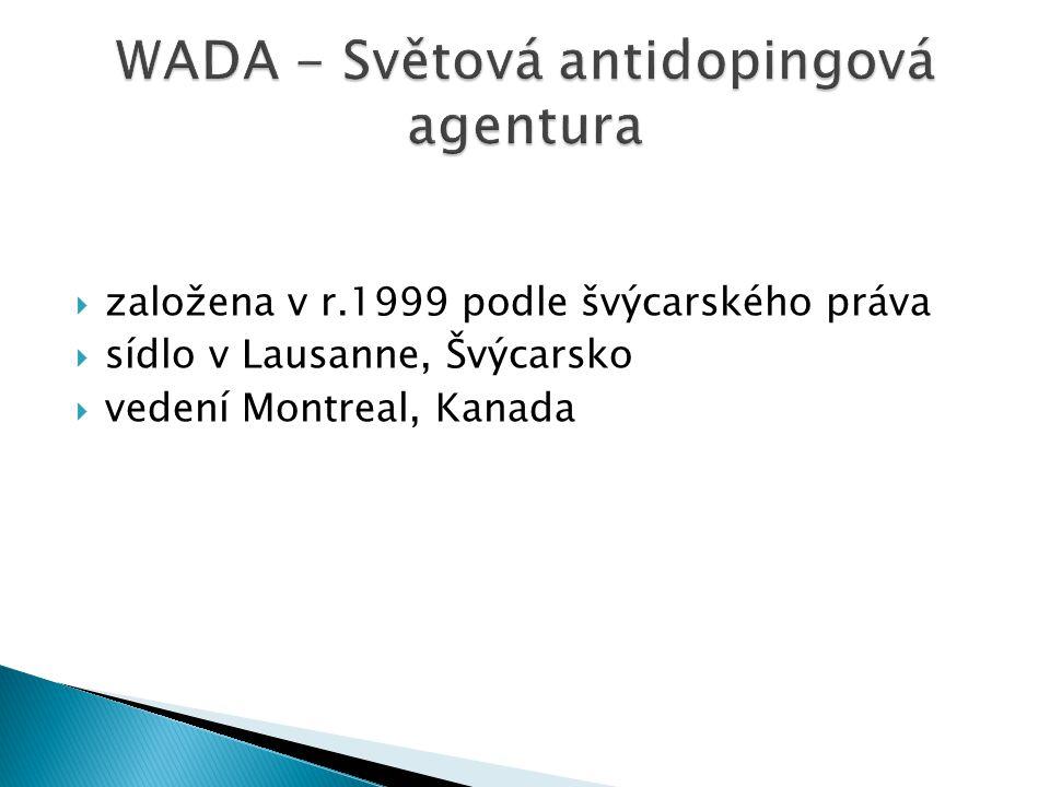  založena v r.1999 podle švýcarského práva  sídlo v Lausanne, Švýcarsko  vedení Montreal, Kanada