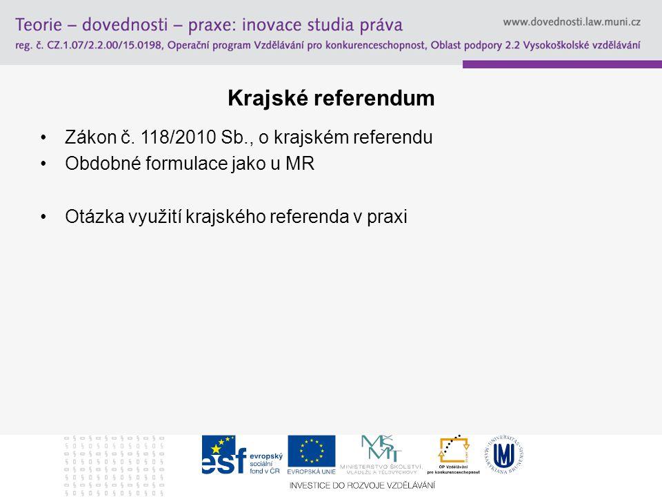 Krajské referendum Zákon č.