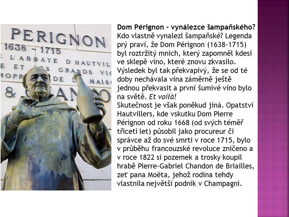 Dom Pérignon - vynálezce šampaňského. Kdo vlastně vynalezl šampaňské.