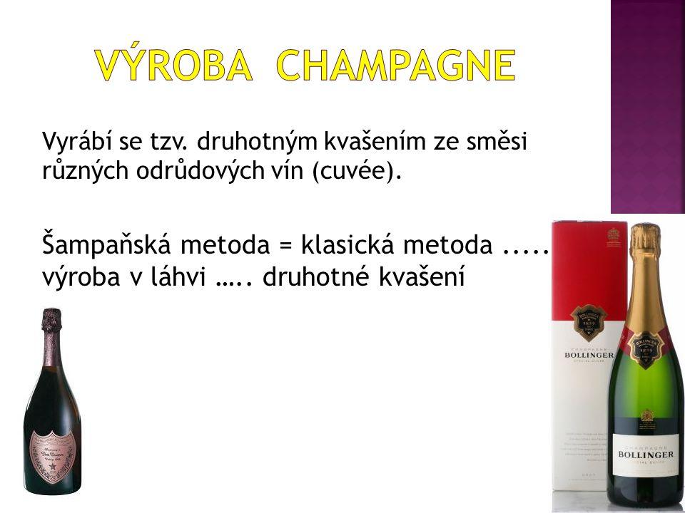 Vyrábí se tzv. druhotným kvašením ze směsi různých odrůdových vín (cuvée).